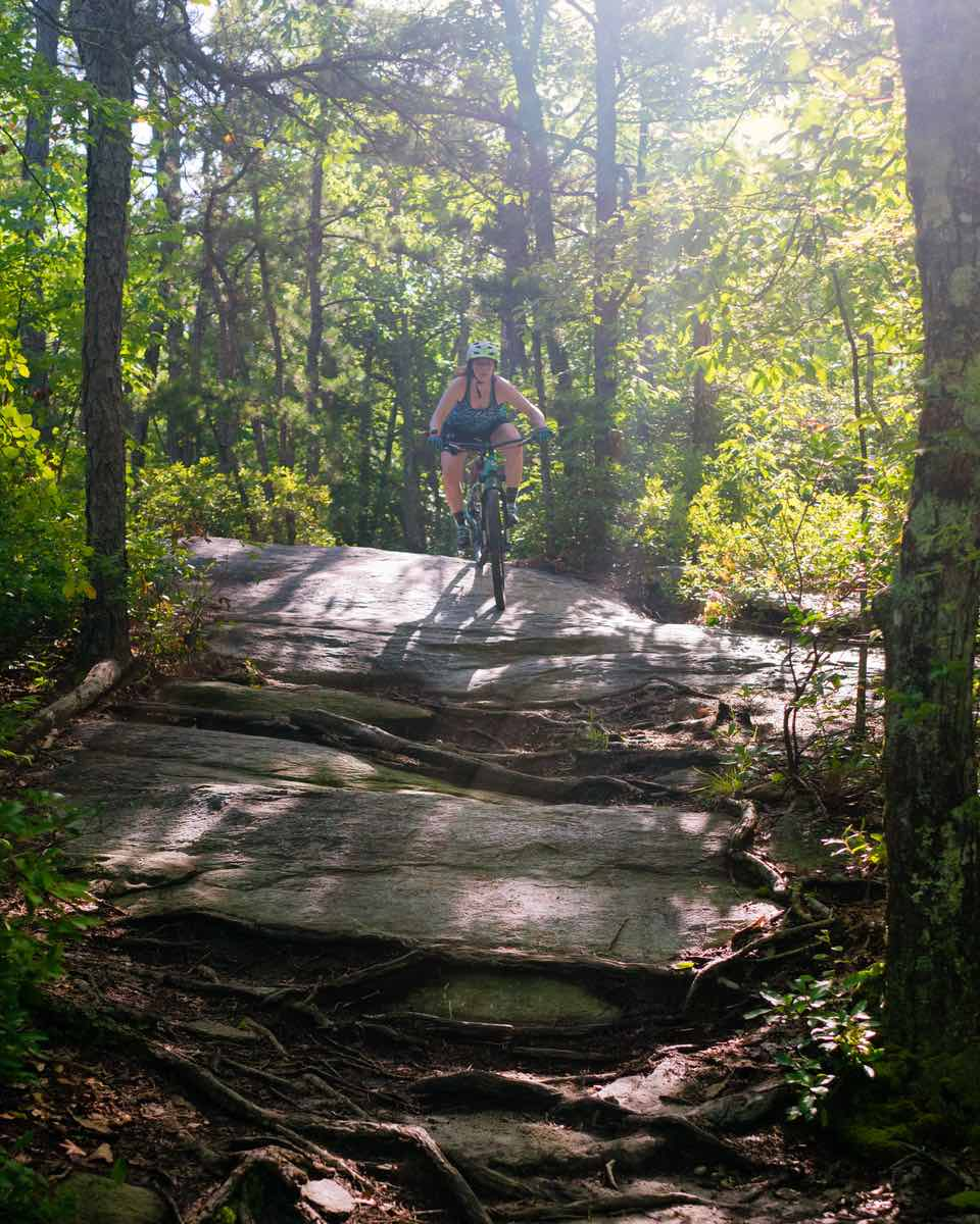 bikerumor pic of the day big rock trail in dupont state forest brevard north carolina.