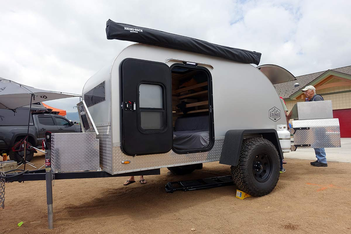 colorado teardrops makes offroad camping trailers with big tires for overland vehicles