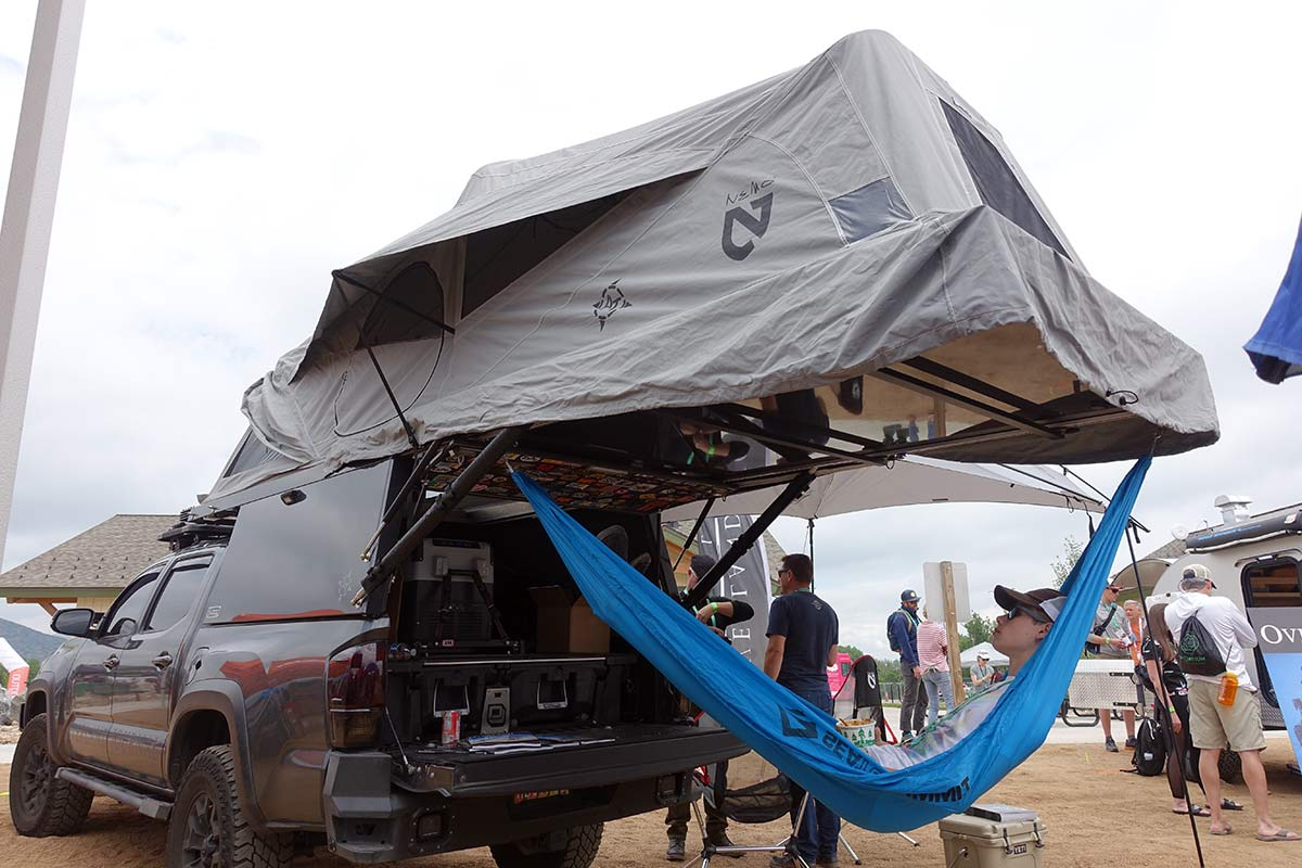 expedition portal overland toyota tacoma truck with offroad gear from outdoor retailer show summer 2019