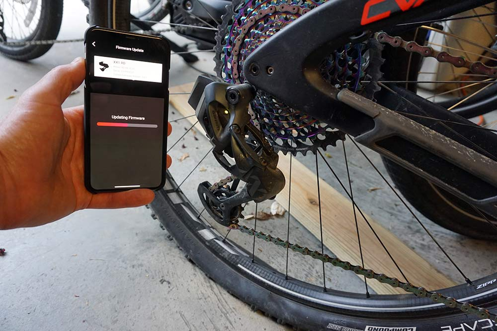 how to use the SRAM AXS app to customize Eagle mountain bike groups