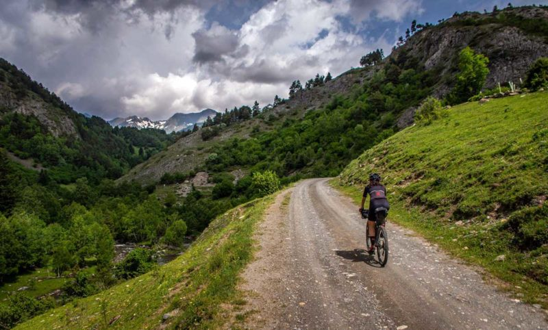 where to ride gravel roads in the pyrenees mountains in Spain