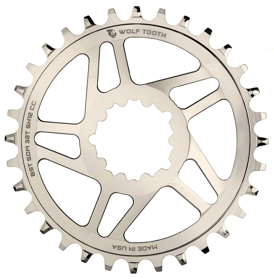 Nickel plated WTC chainrings are a perfect match for Cane Creek eeWings cranks, XTR