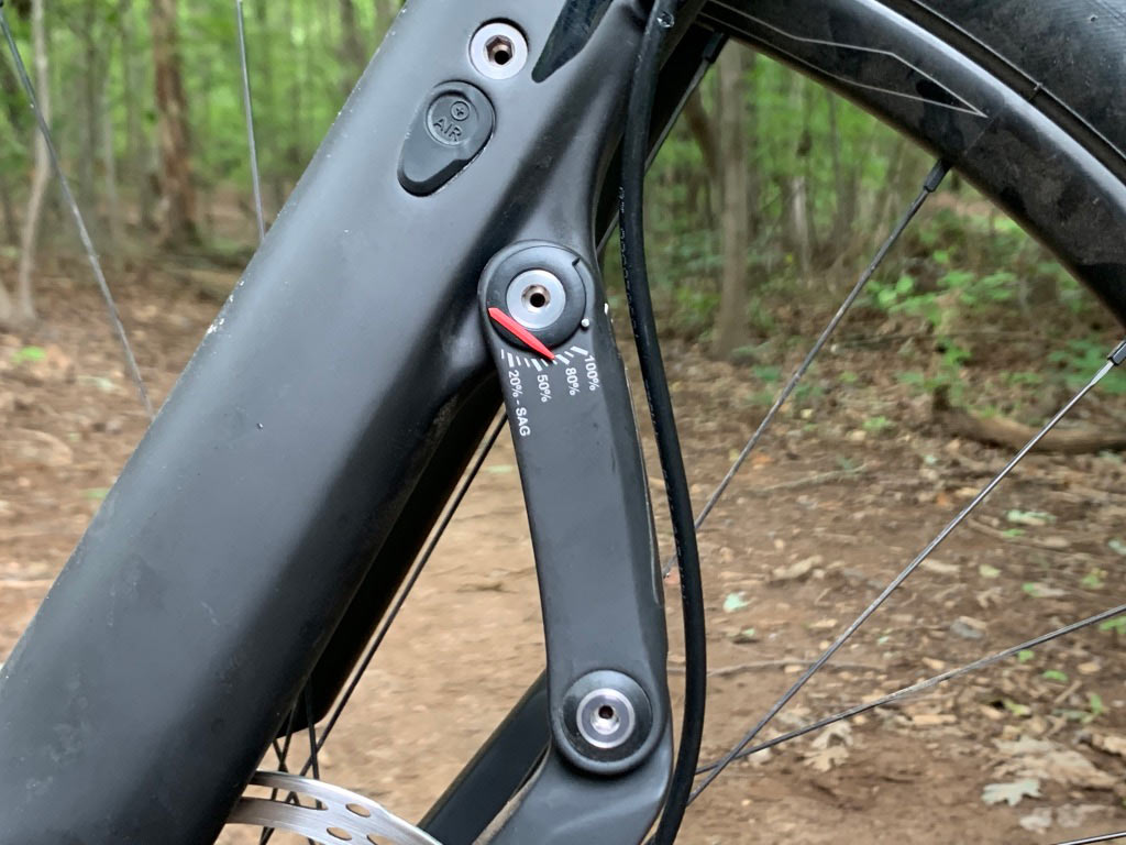 how to get the right air pressure setting for the trust message suspension fork