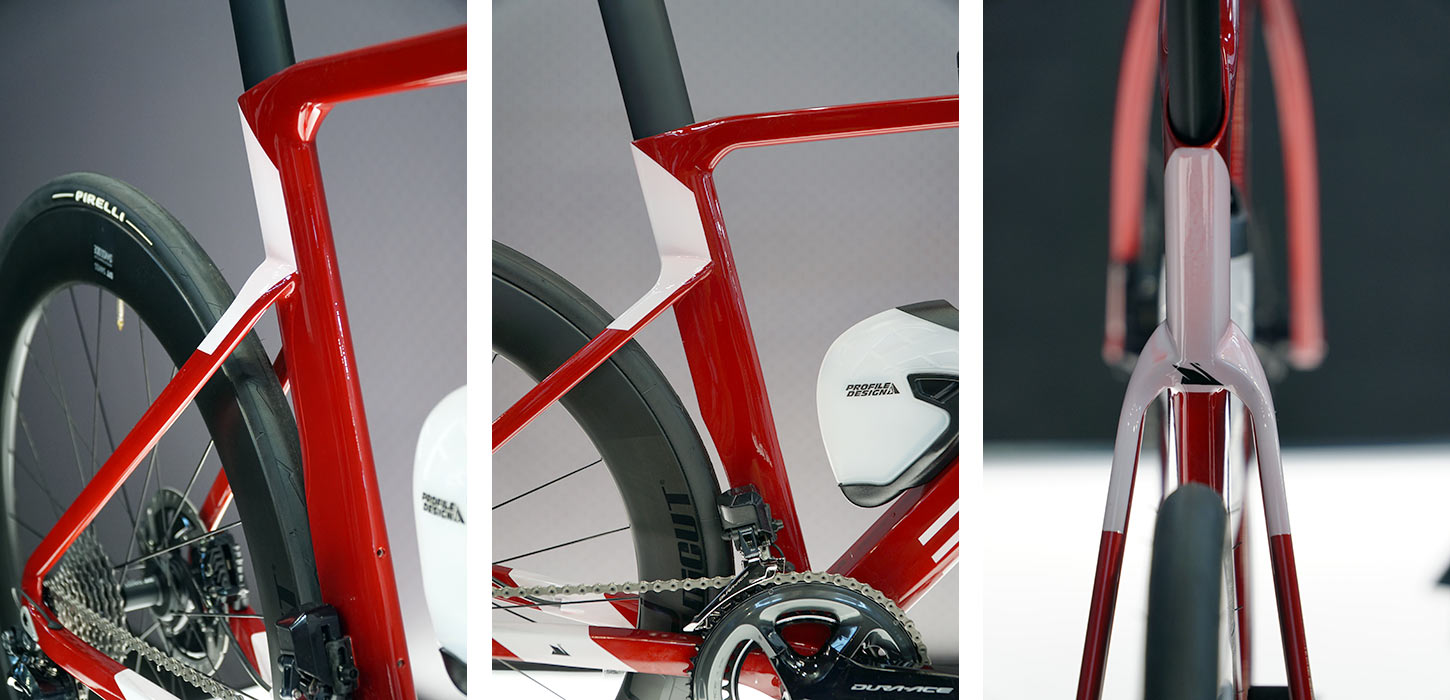 Exept Aero Concept is a custom geometry carbon fiber triathlon bike that can convert to a standard road bike with ease