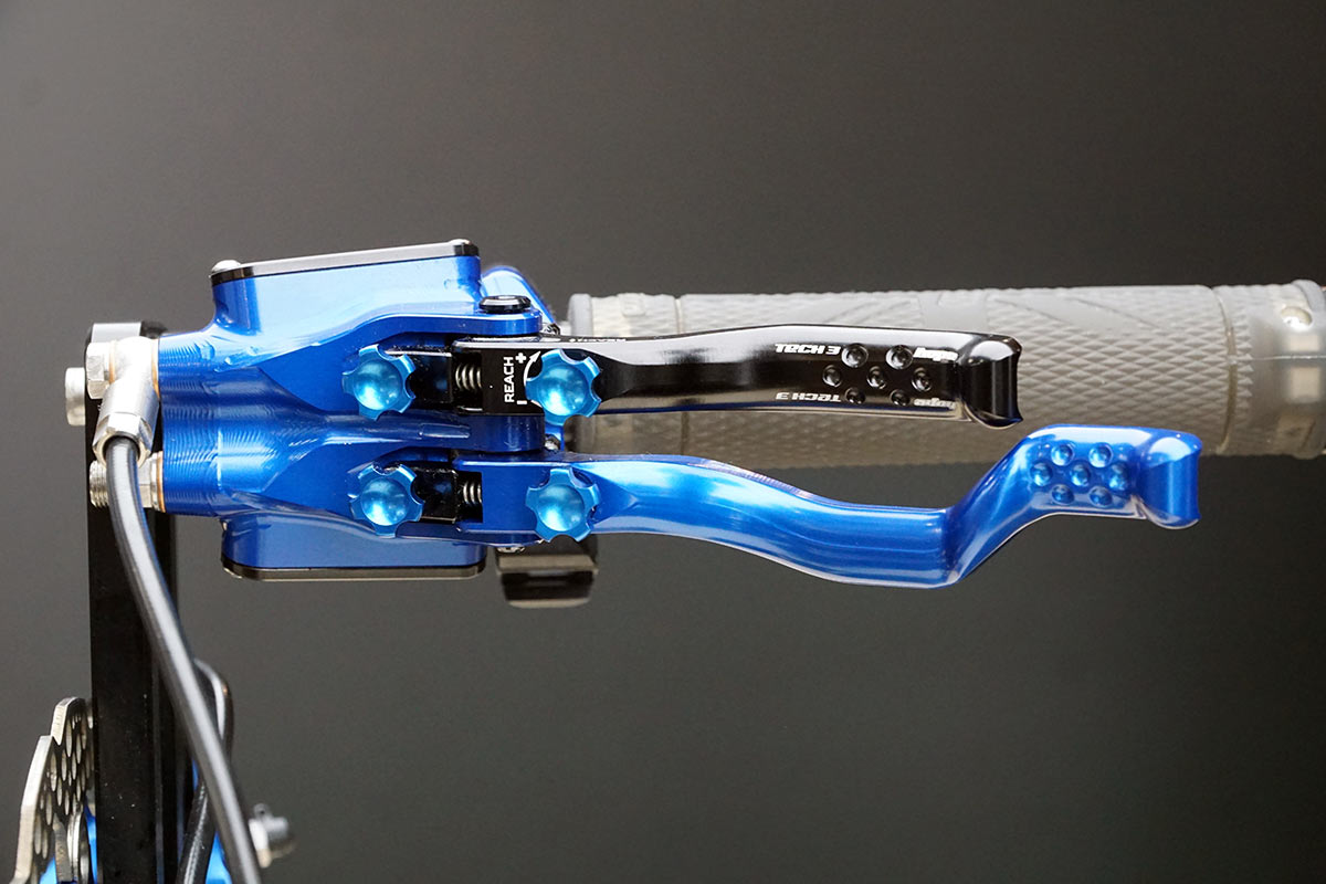 hope custom dual brake lever for hydraulic mountain bike brakes for special needs riders