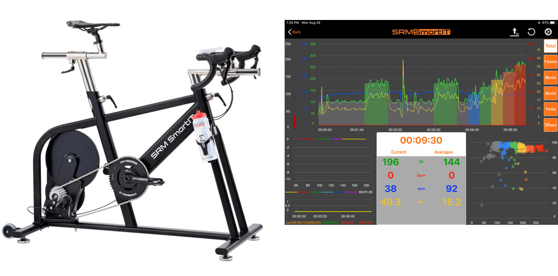 SRM SmartIT smart indoor trainer for cyclists who train with power