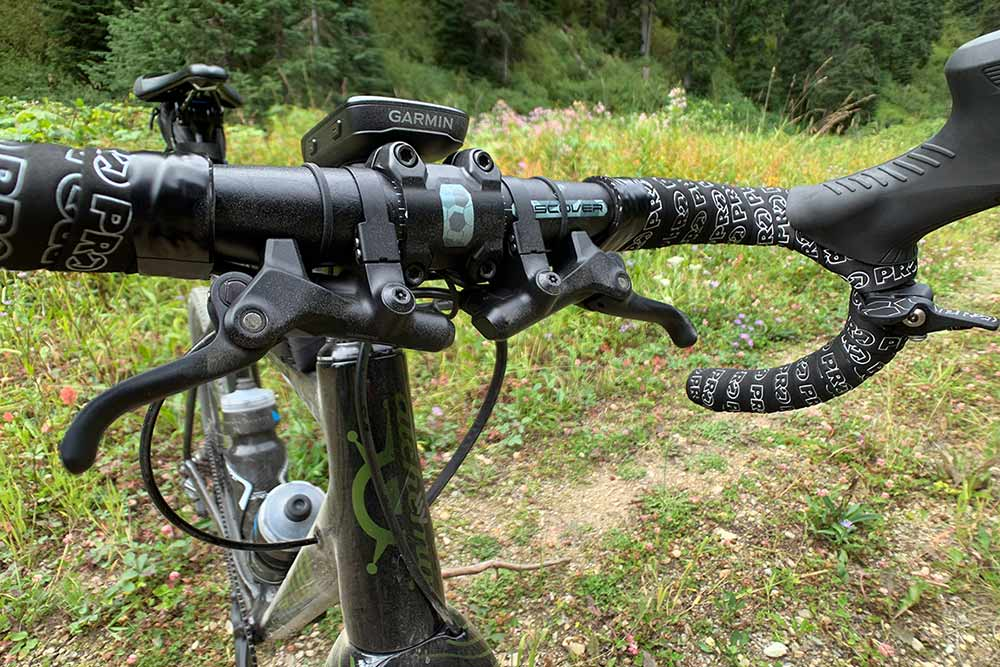how do shimano grx sub lever inline hydraulic brake levers work for the top of the bars