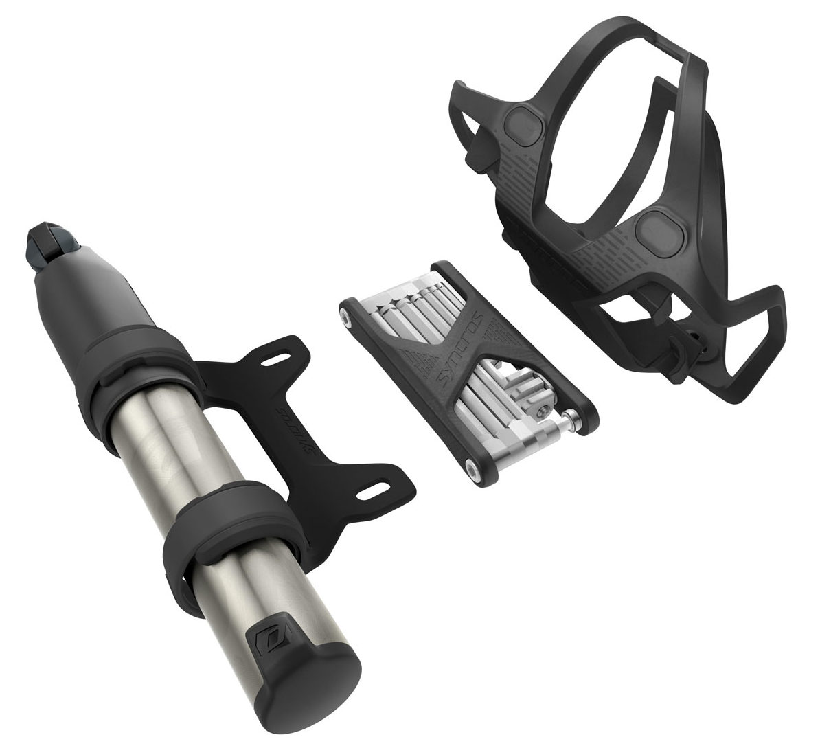 Syncros iS Tailor Cage suits integrated storage for bottle, multi tool, & pump or CO2