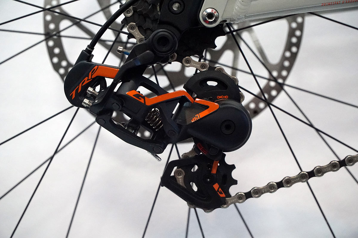 TRP DH7 rear derailleur and shifter offer unique features as an alternative drivetrains option to shimano and sram