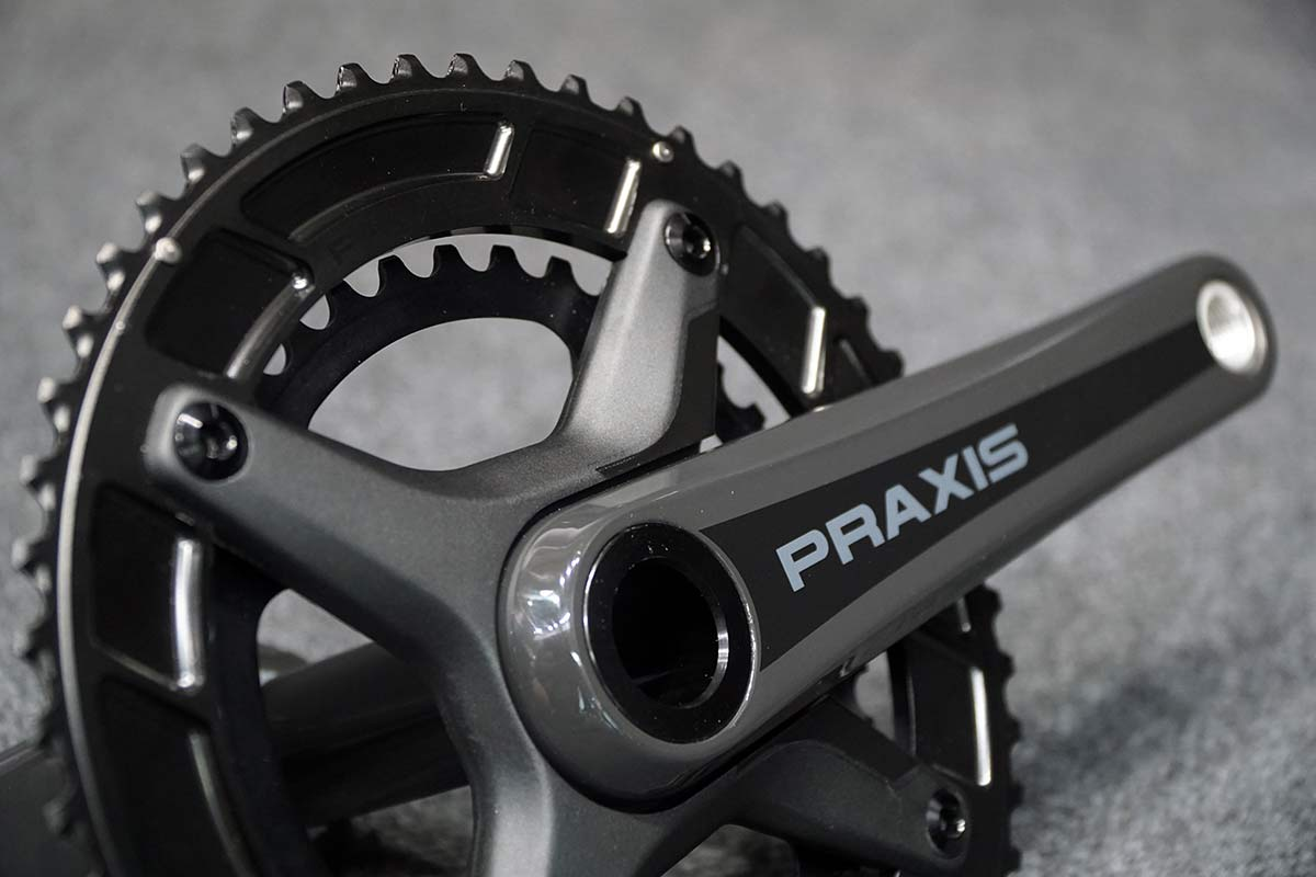 praxis zayante carbon cranks with levatime 2 chainrings