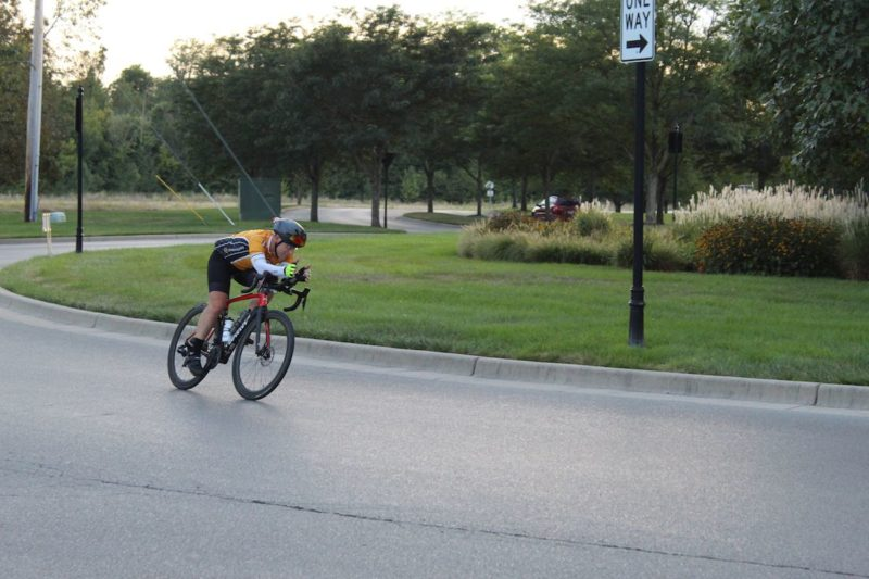 bikerumor pic of the day national roundabout week riding around in carmel indiana for world record.