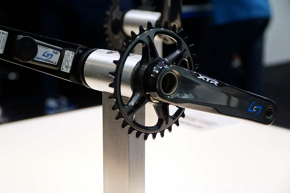 stages dual leg and single leg power meters for new shimano xt and xtr 12-speed cranksets