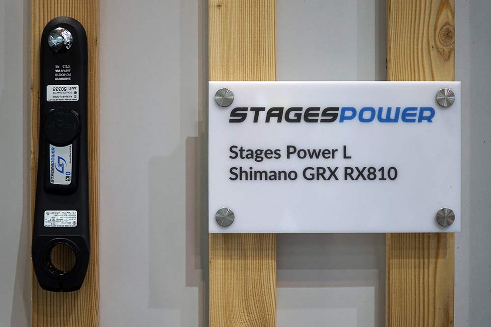 stages power meter can be added to a shimano grx gravel bike crankset