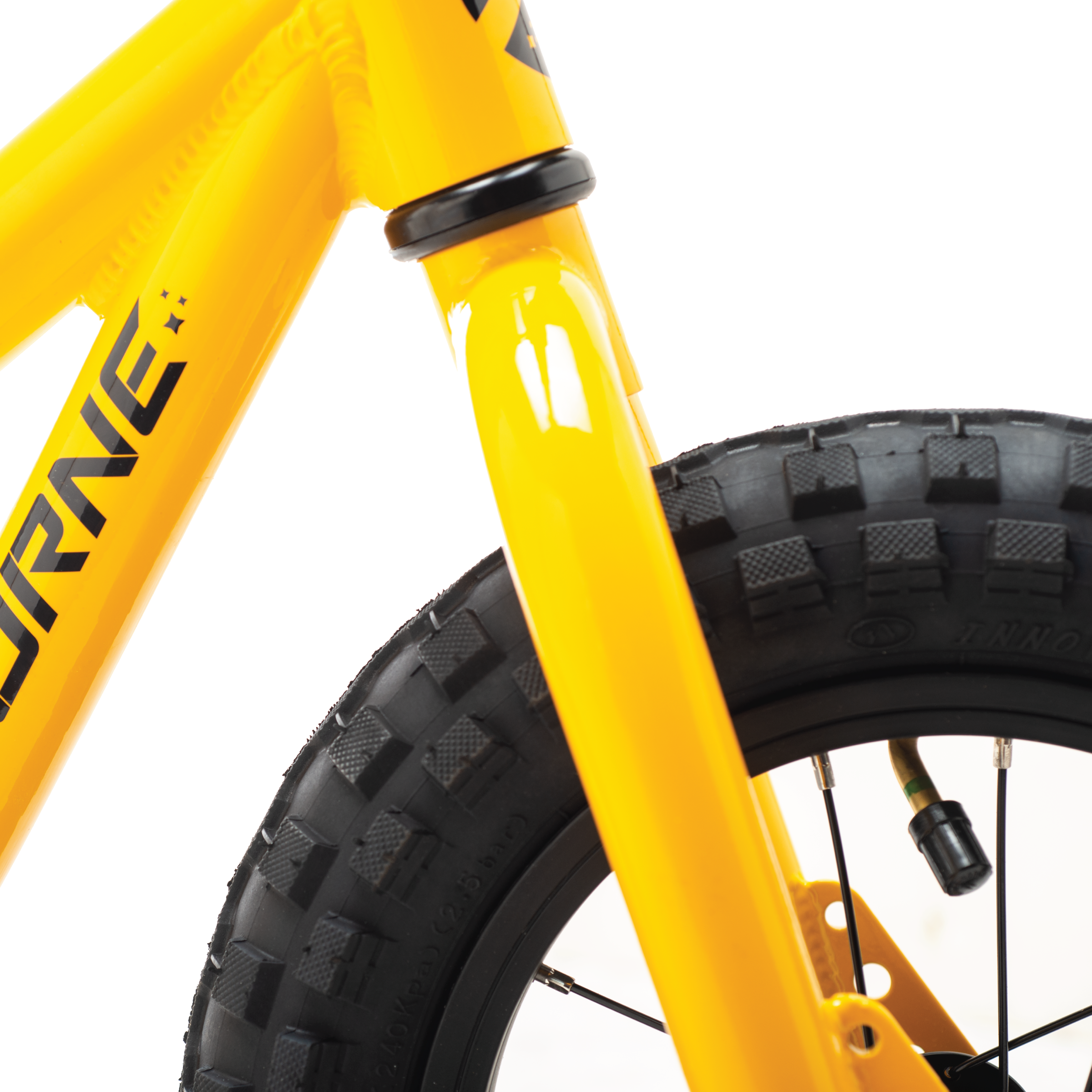 """Airborne Gnome balance bike may be small, but 3"""" wide plus tires offer big grip"""
