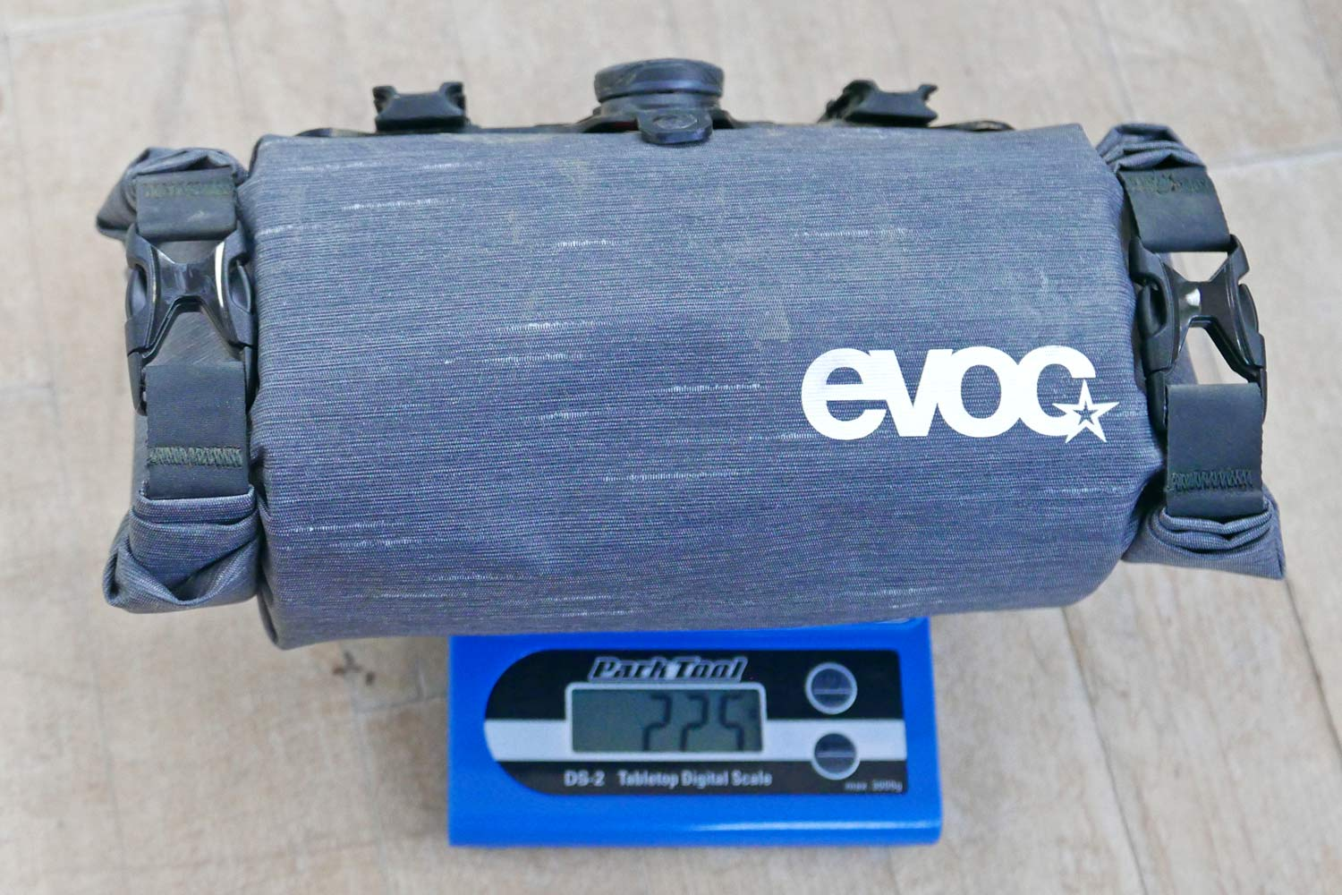EVOC Bikepacking bags review, off-road riding MTB gravel adventure packs with Boa dial mounts, actual weight