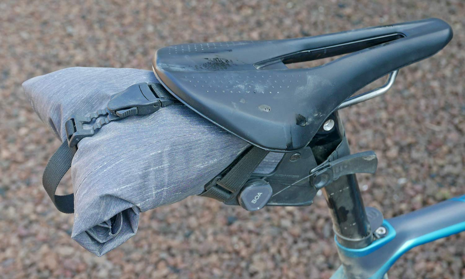 EVOC Bikepacking bags review, off-road riding MTB gravel adventure packs with Boa dial mounts