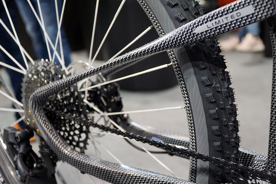 FRM dyneema carbon fiber mountain bike is one of the lightest full suspension mountain bike frames