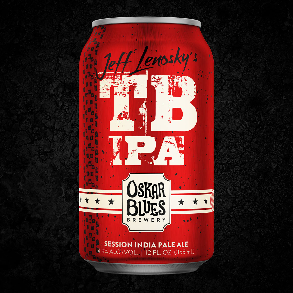 Jeff Lenosky x Oskar Blues TB IPA is a Trail Boss inspired beer to support Can'd Aid