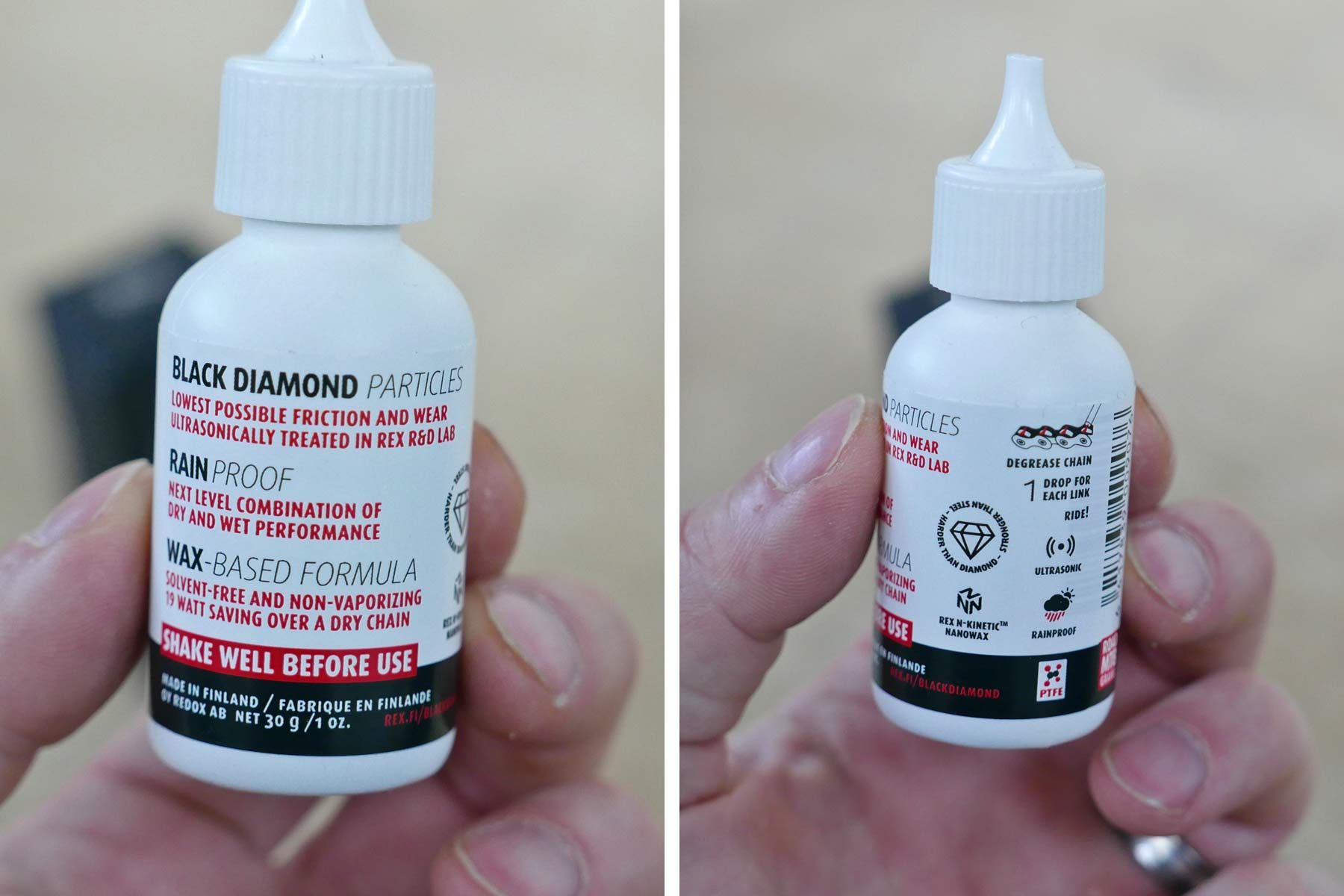 Rex Black Diamond lube, paraffin wax-based nanotech fastest ever bicycle chain lube