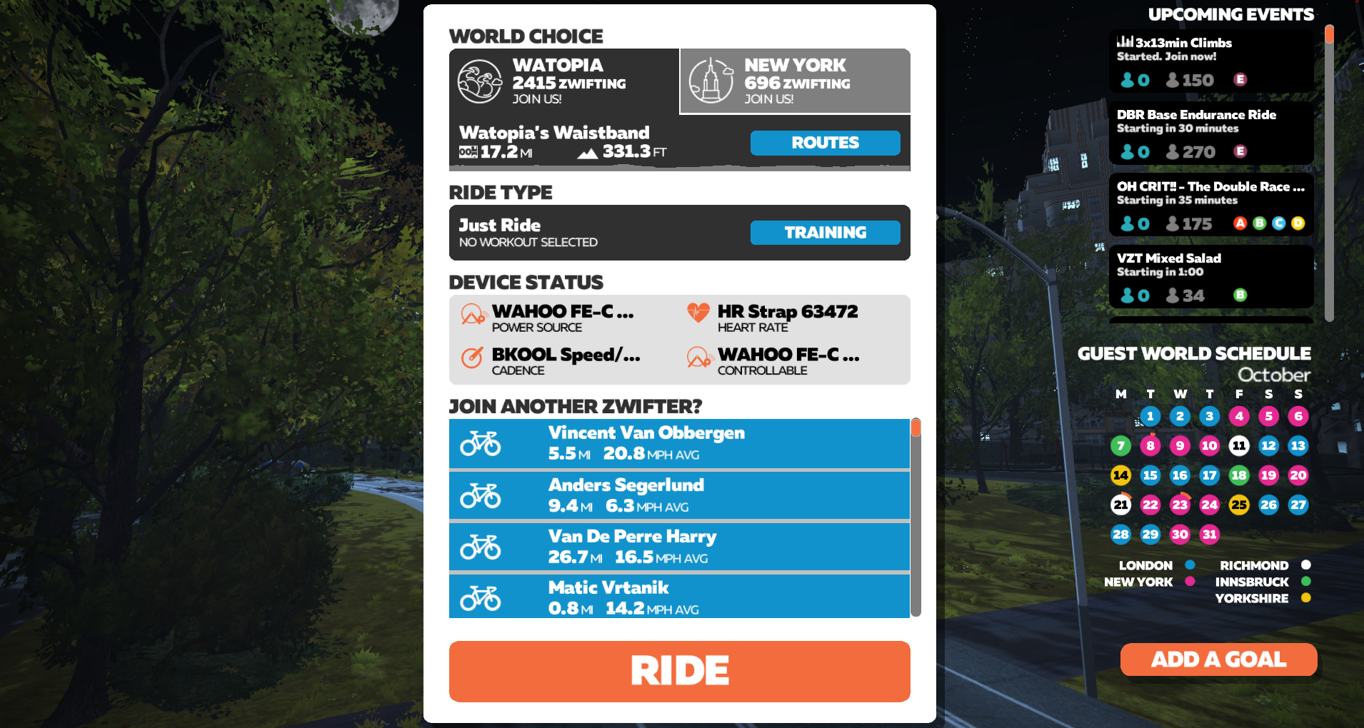 Ride off the candy w/ Zwift Halloween Scavenger hunt to unearth dinosaur costume