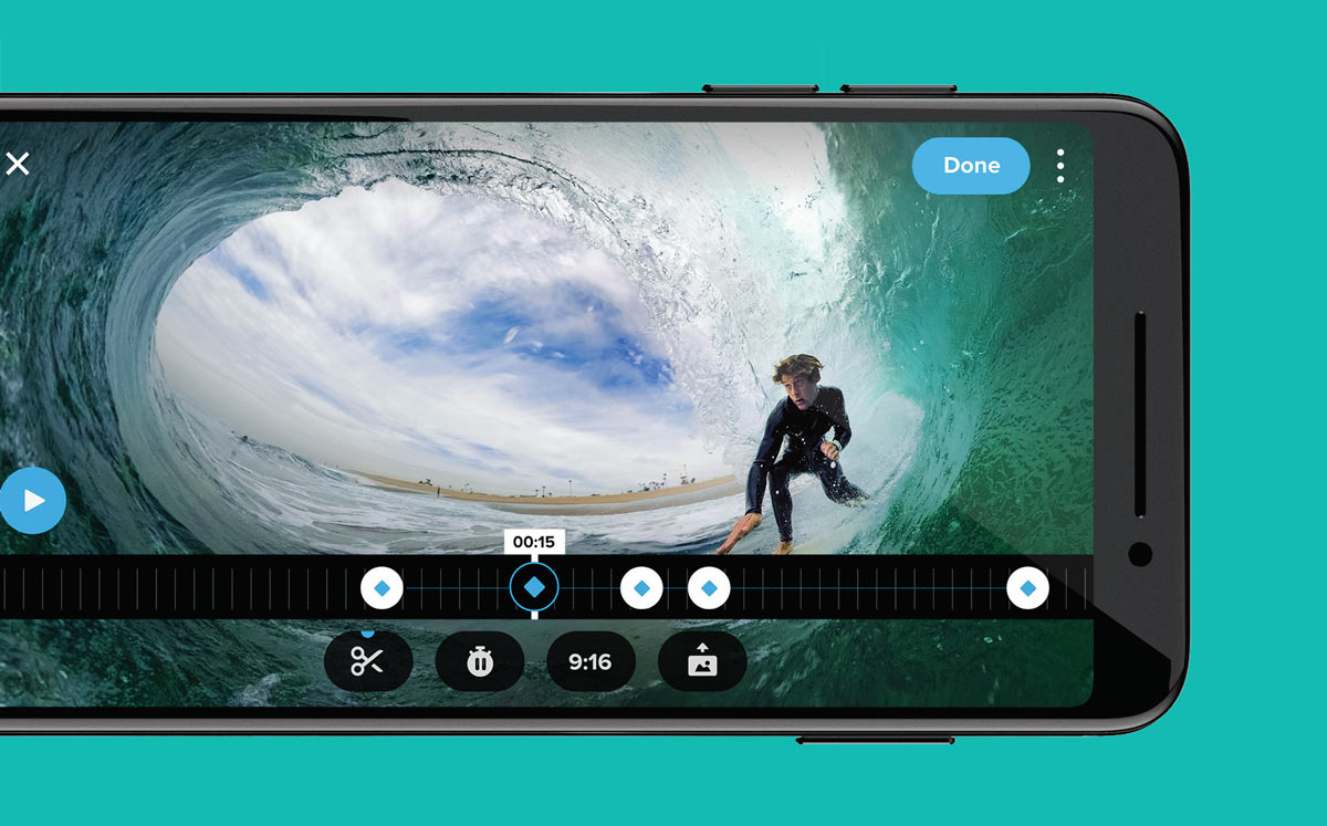 How do I turn GoPro Max 360-degree footage into a regular video
