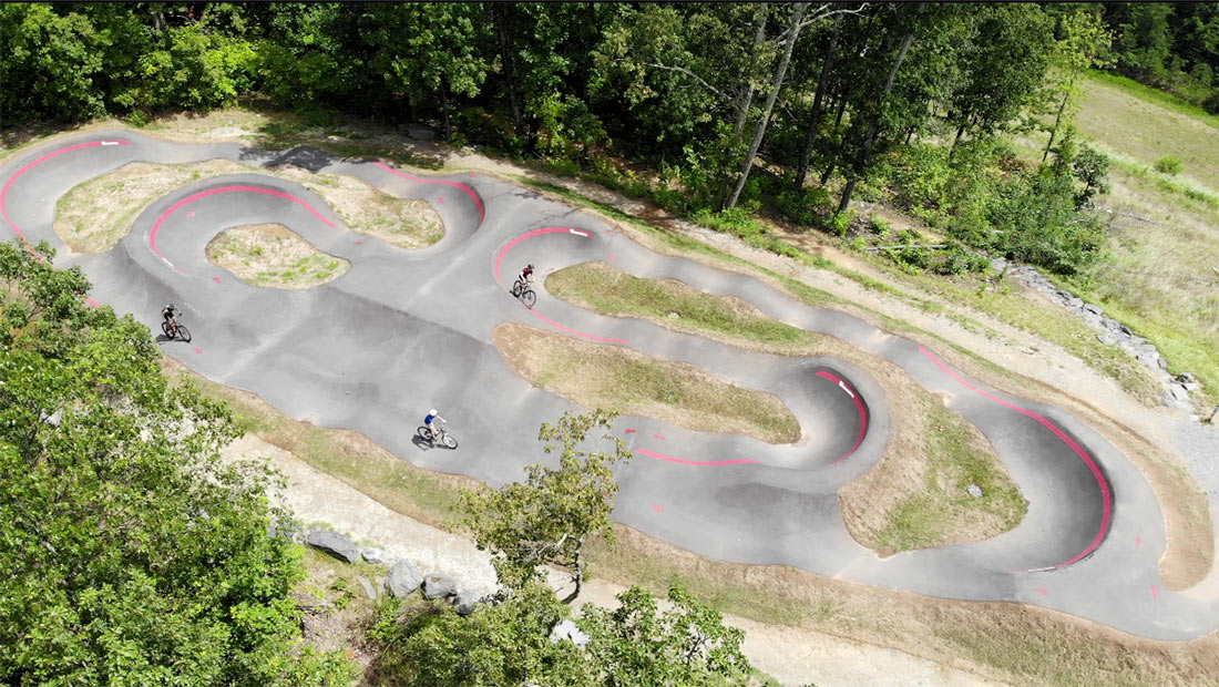 velosolutions pump track at tannery knobs mountain bike park
