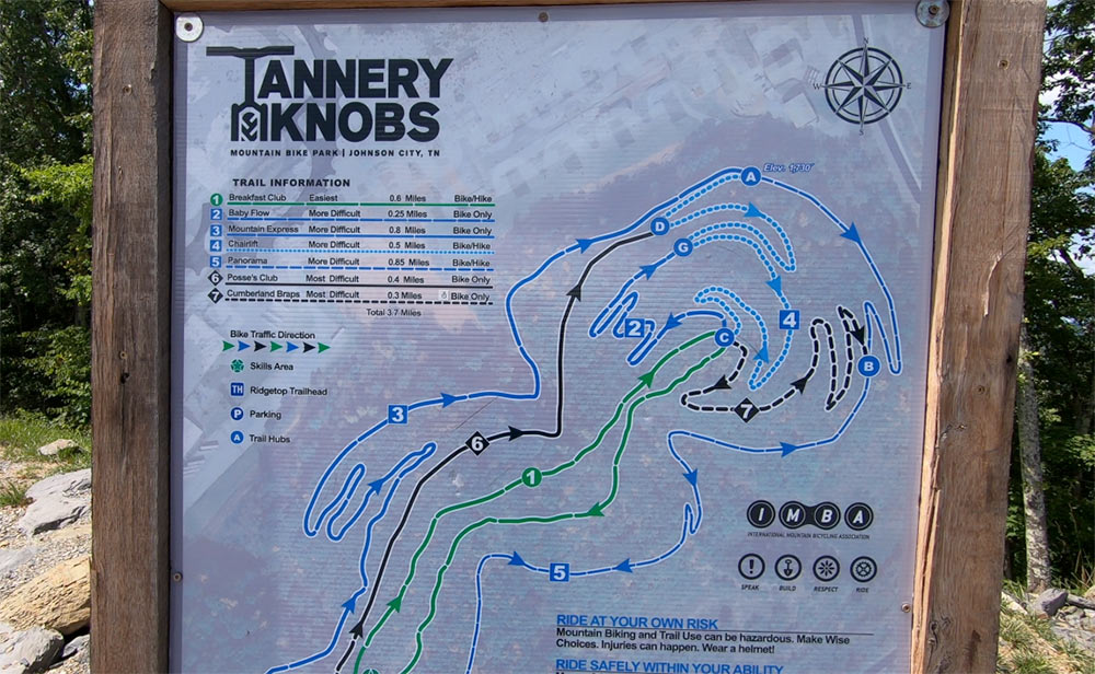 tannery knobs bike park trail map