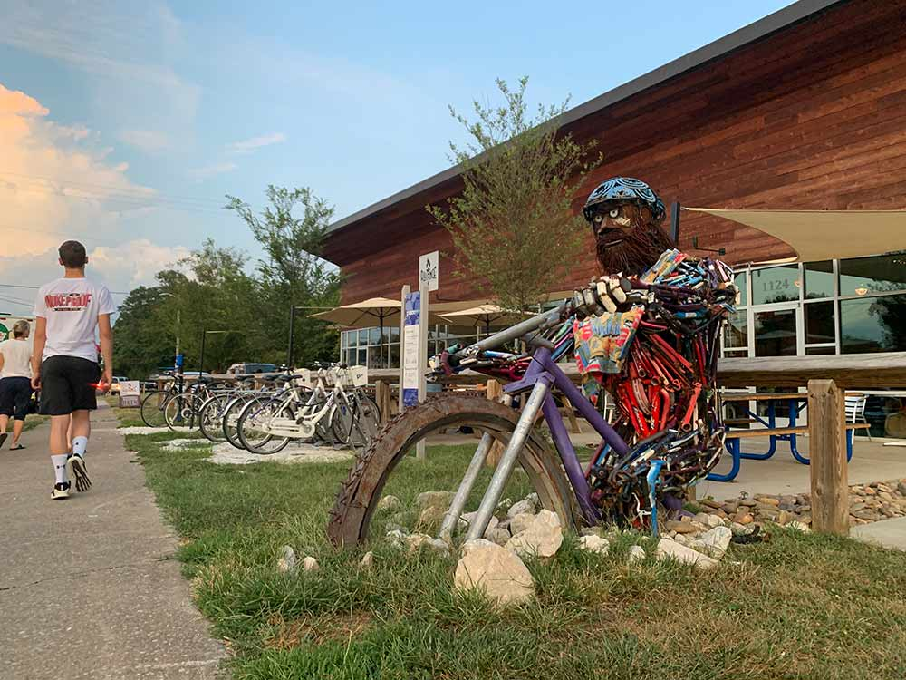 """Alliance Brewing is close to the trails and is """"biker"""" friendly."""
