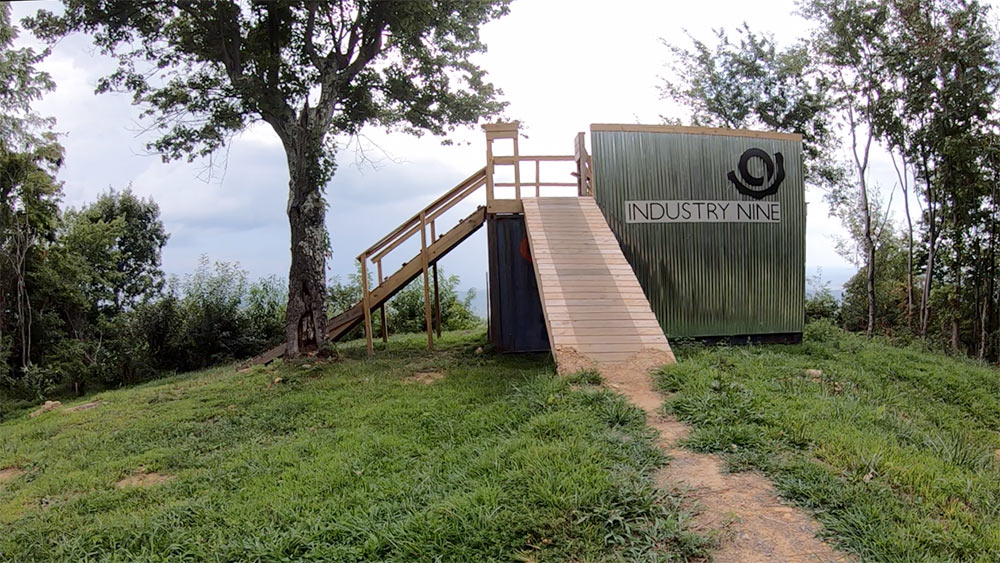 industry nine launch ramp at windrock bike park