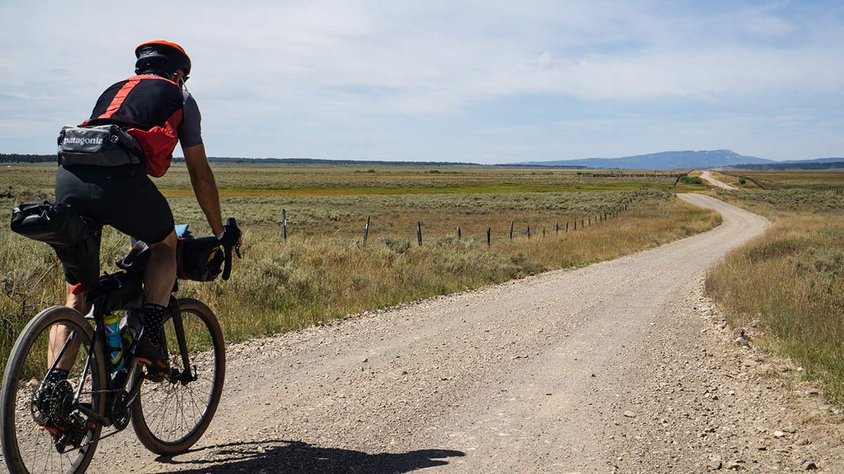 riding gravel bikes in Idaho in search of fly fishing spots