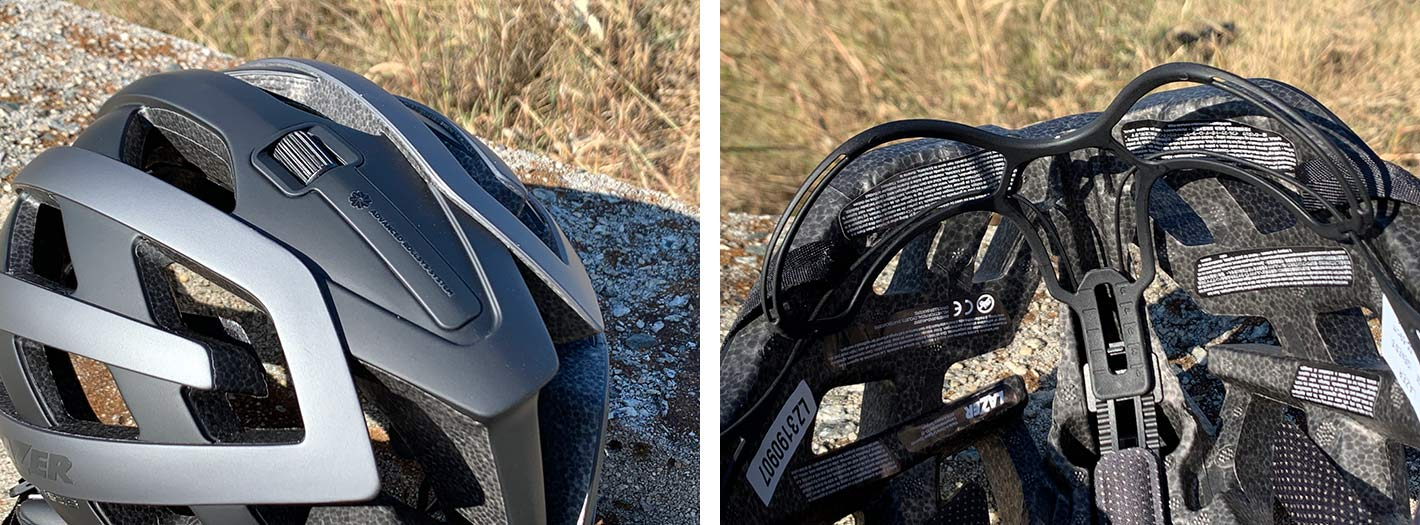 the lazer g1 genesis bicycle helmet is lightweight and fits well