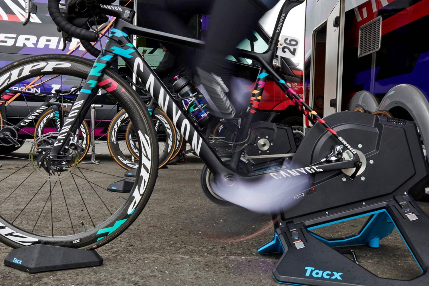 Canyon officially approves a number of bikes for turbo trainer usage, Canyon//SRAM pre-race warmup