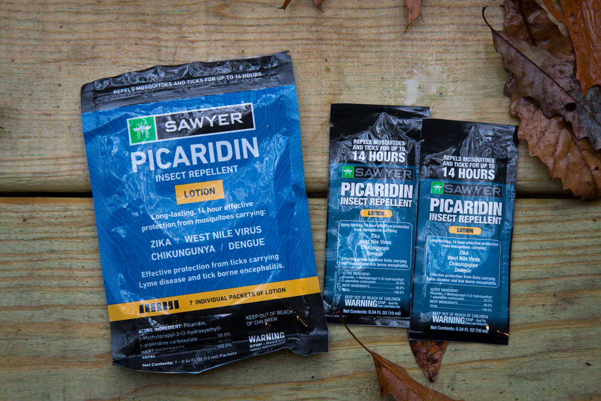 Picardin, Permethrin bug spray, & pocket sized water filters: Sawyer insect repellent & water treatment keeps you safe in the backcountry