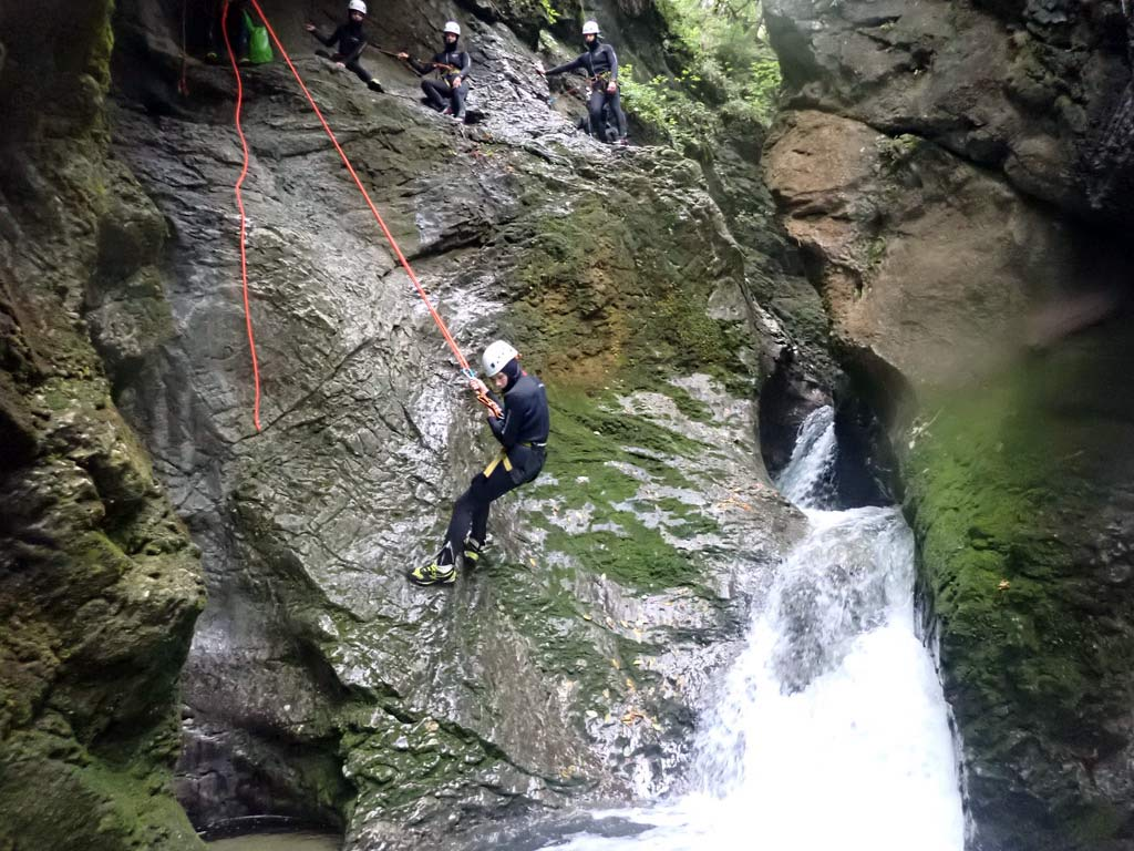 where to go canyoning with a guide in slovenia
