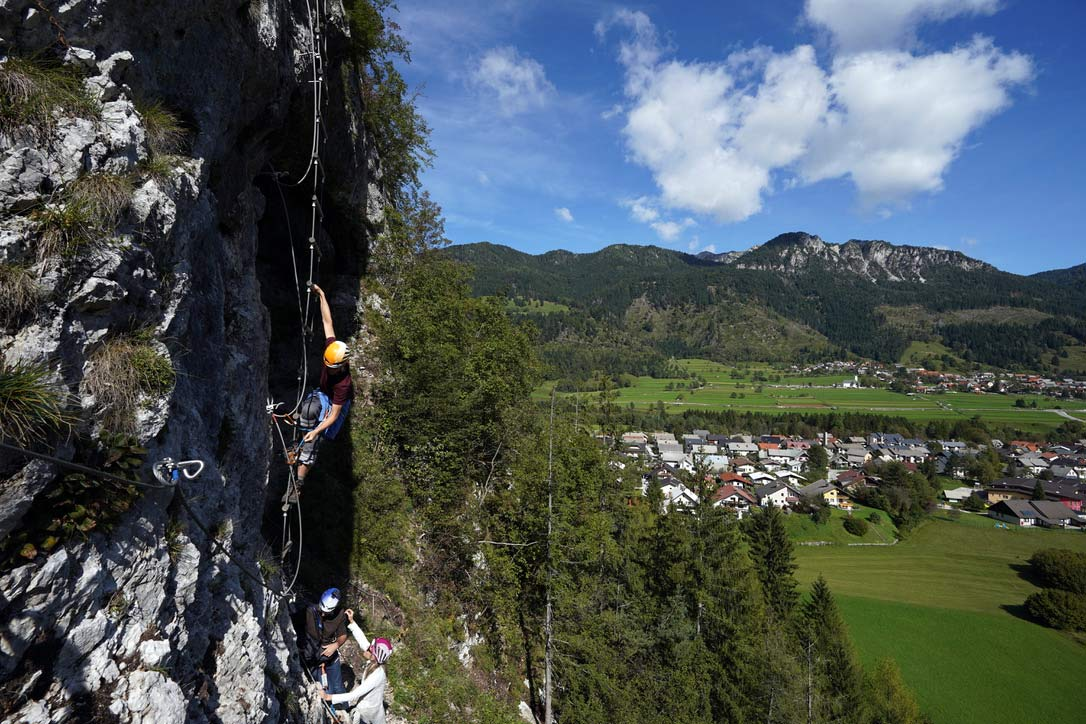 where to rock climb and try via ferrata with a guide in slovenia