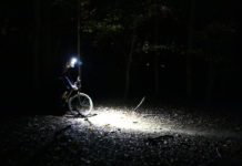 Gloworm XSV bike light review and interchangeable lens optic beam comparison