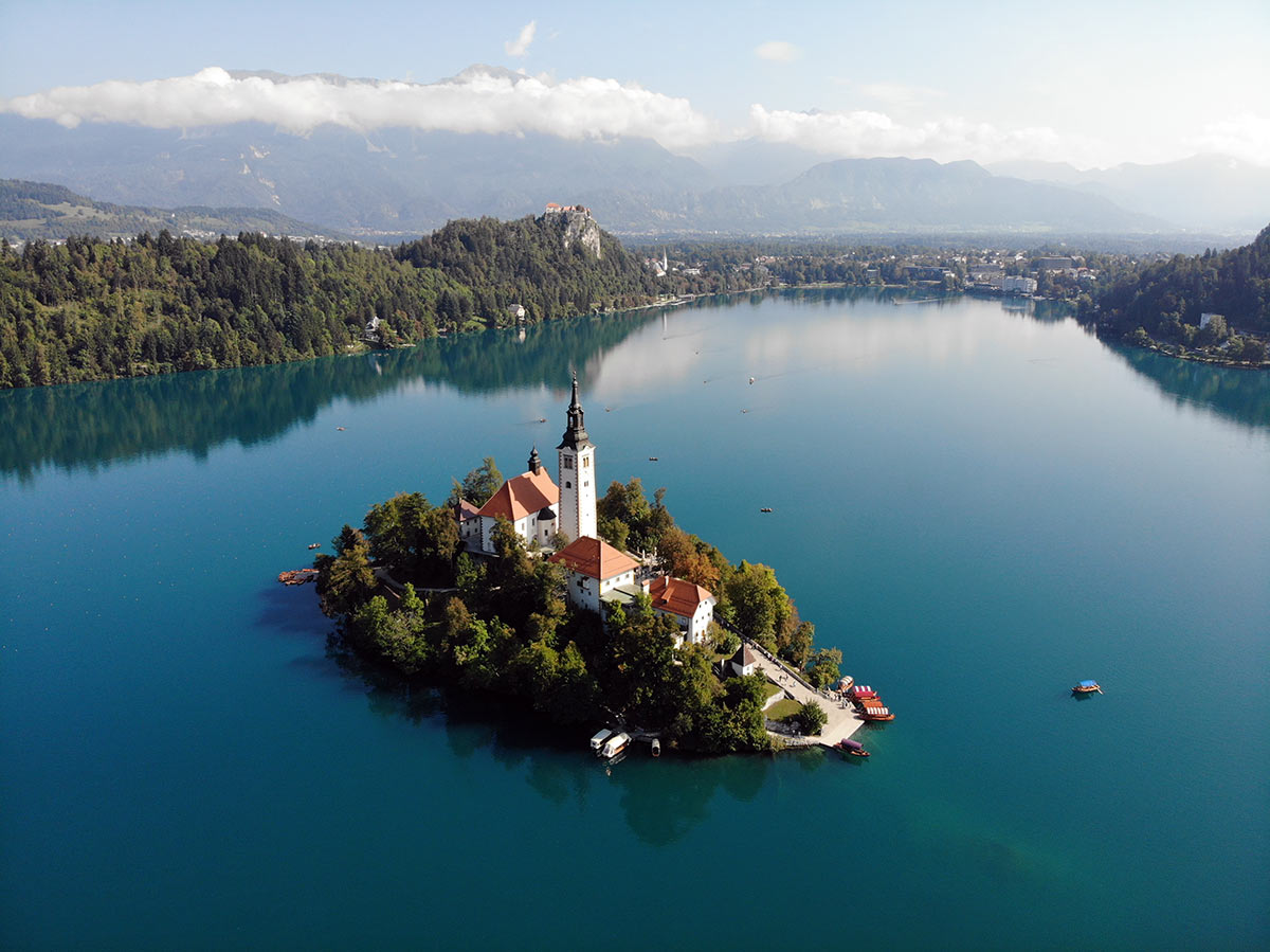 how to visit lake Bled island church in slovenia