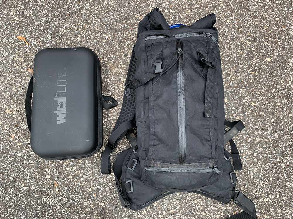 how big is the wiral lite cable cam and case - it fits inside a hydration pack for easy transport deep into the woods