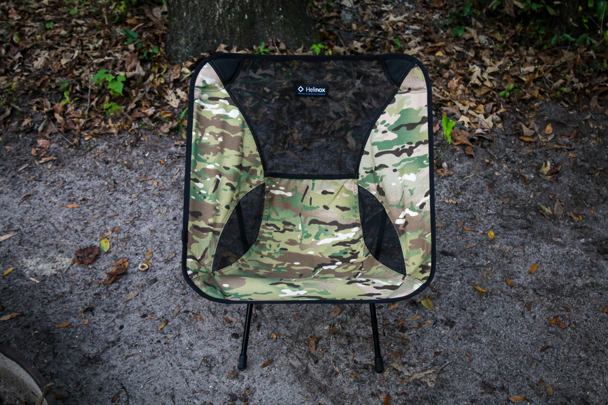 Helinox Chair One camp chair camouflage car camping