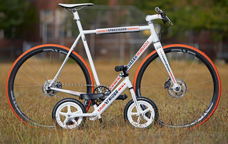 Speedvagen Team Ready Made SSCX single speed cross bike, limited edition steel singlespeed cyclocross CX race bike, made-in-Portland, US-made, red white & blue