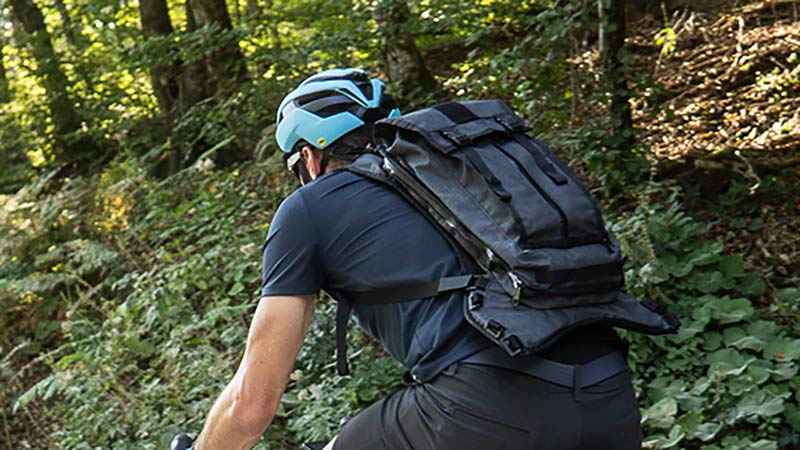 mission workshop Hauser premium hydration backpack for mountain bikers and bikepacking adventures