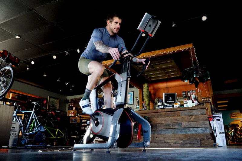 review of the wattbike atom indoor cycling trainer and stationary bike training app