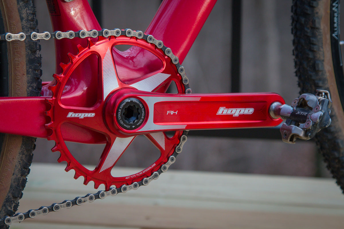 Review: Hope RX Crankset writes its own script for light weight aluminum gravel & road cranks