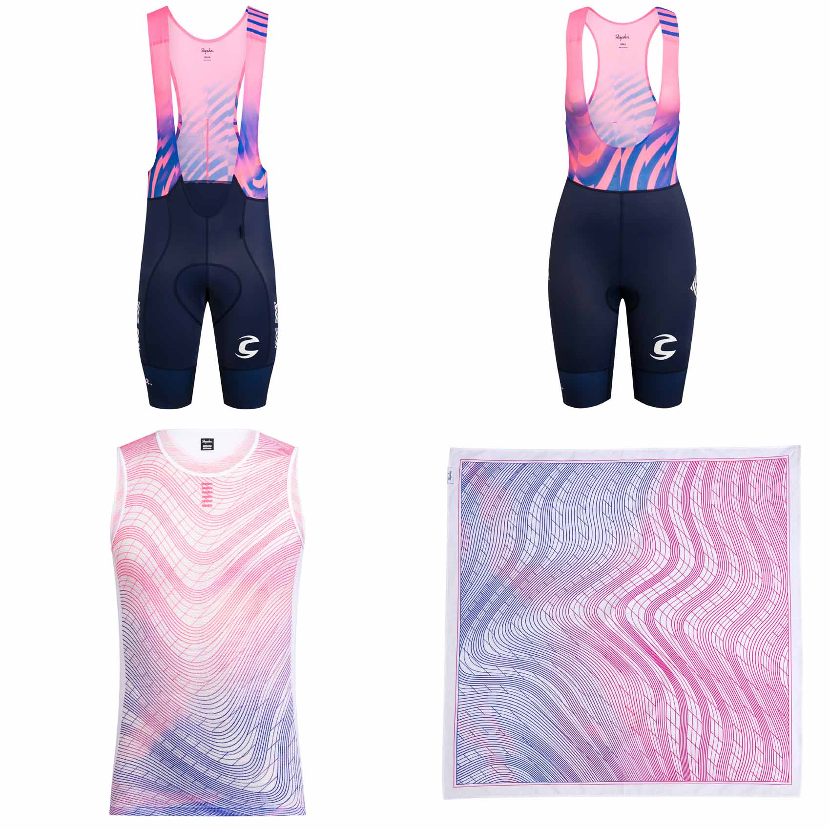 Rapha & EF Pro Cycling add even more eye catching pink & blue kits for 2020