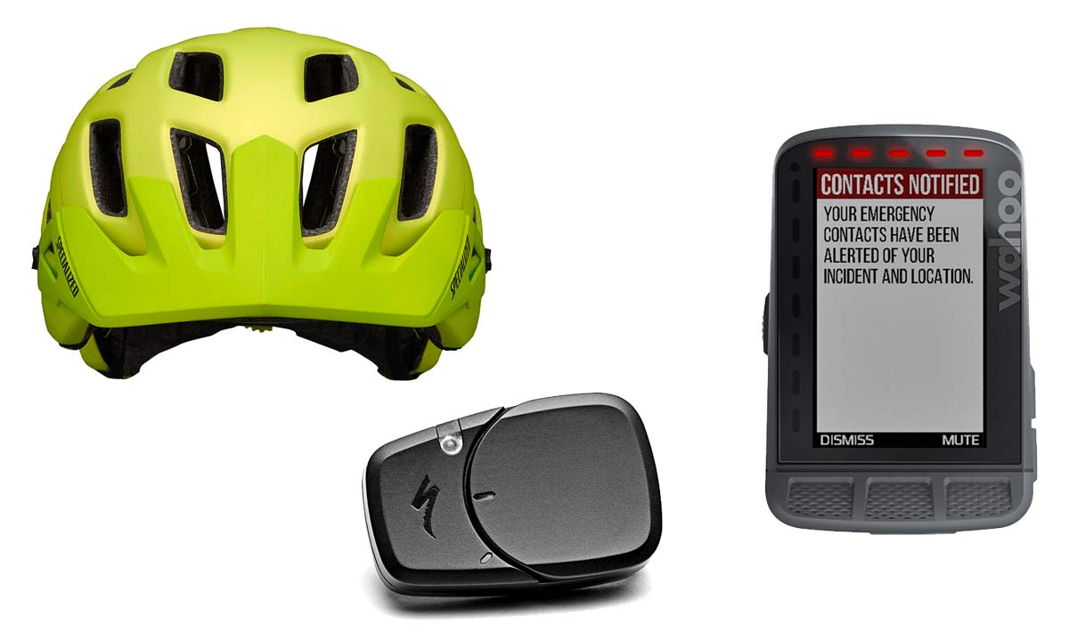Wahoo+ANGi helmet crash sensor integration makes it easier to get help on a ride