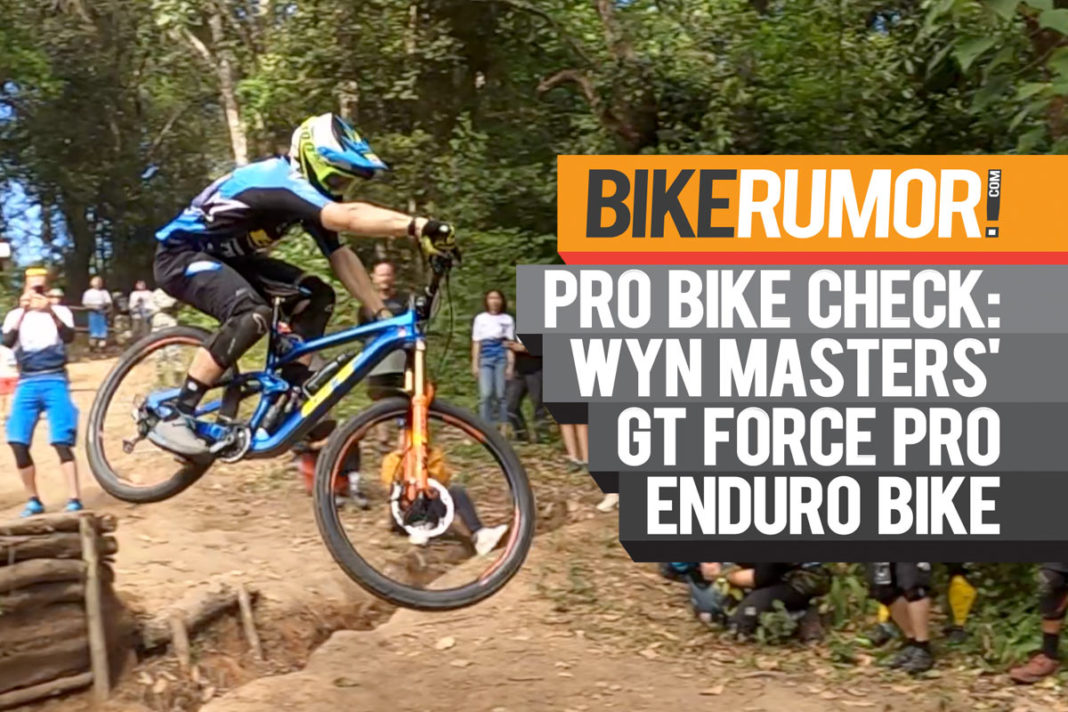 what mountain bike does wyn masters ride for enduro racing