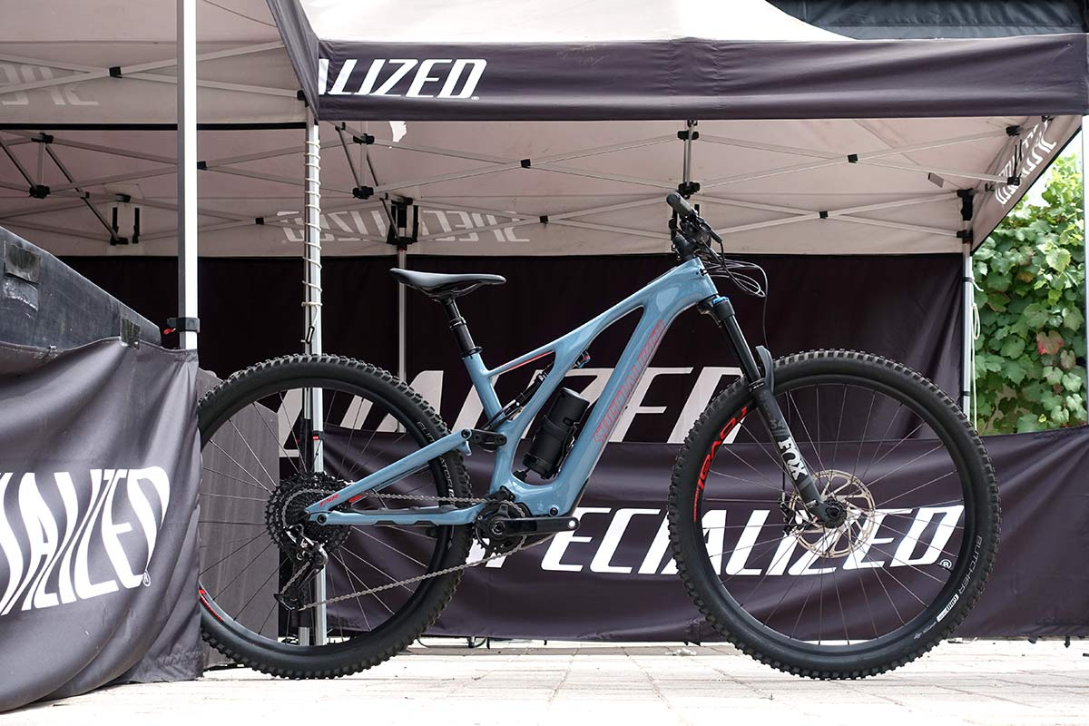 Levo SL comp carbon is the base carbon fiber eMTB model from Specialized