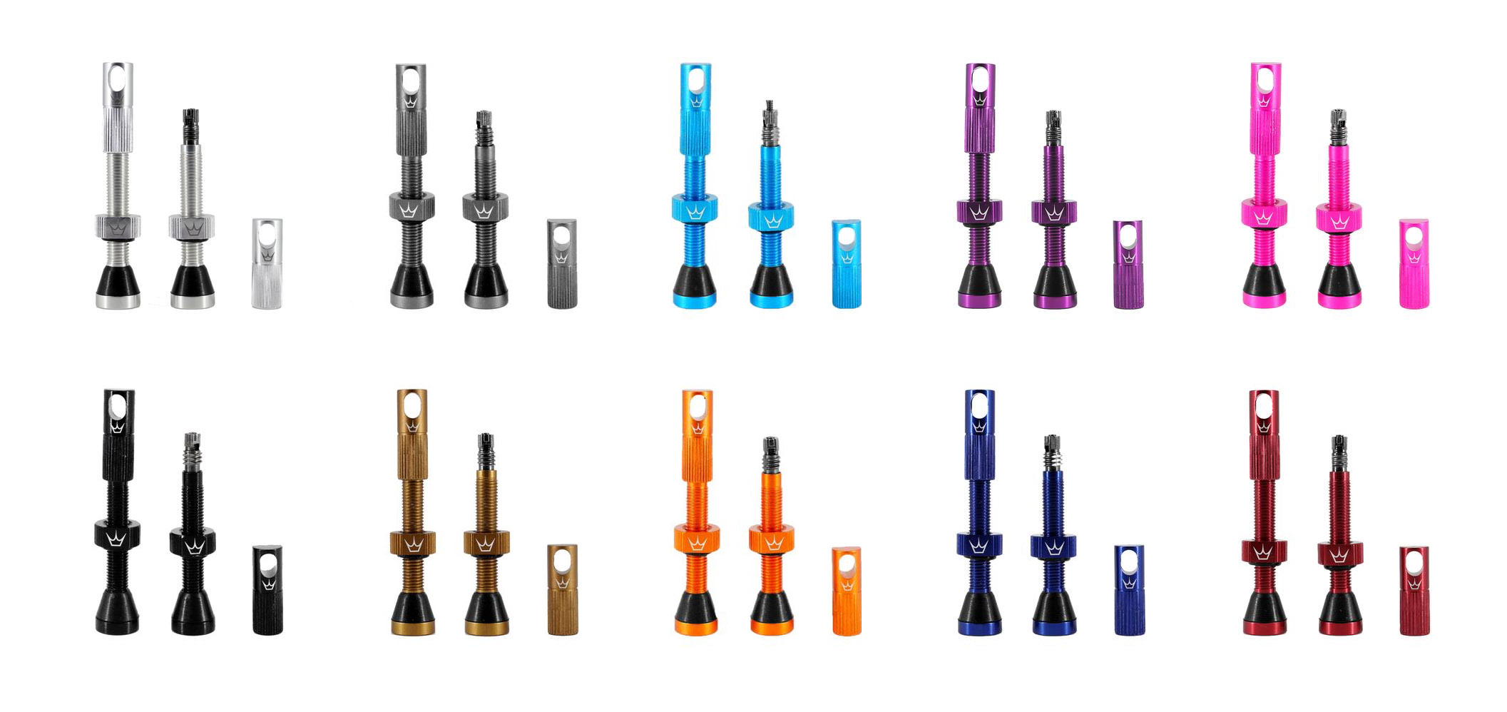 Peaty's x Chris King Tubeless Valves are a match made in anodization heaven