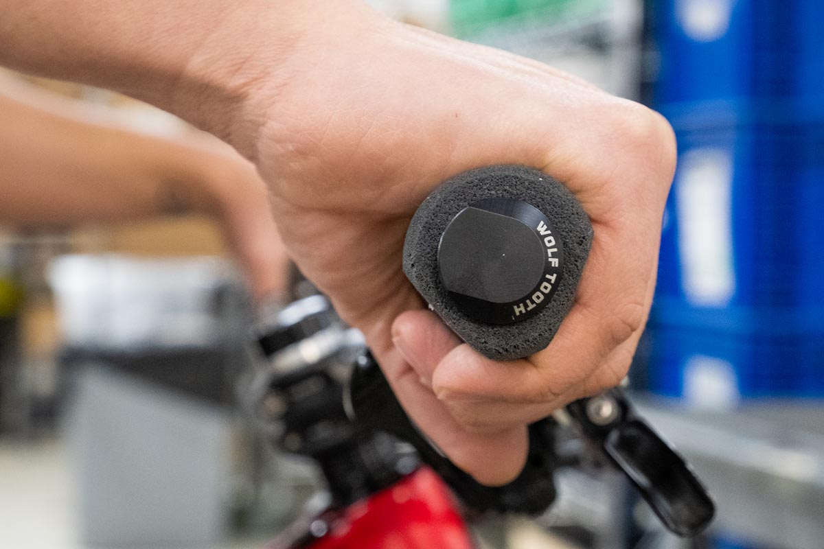 WTC Mega Fat Paw grips may be the world's fattest silicone foam grips for your MTB