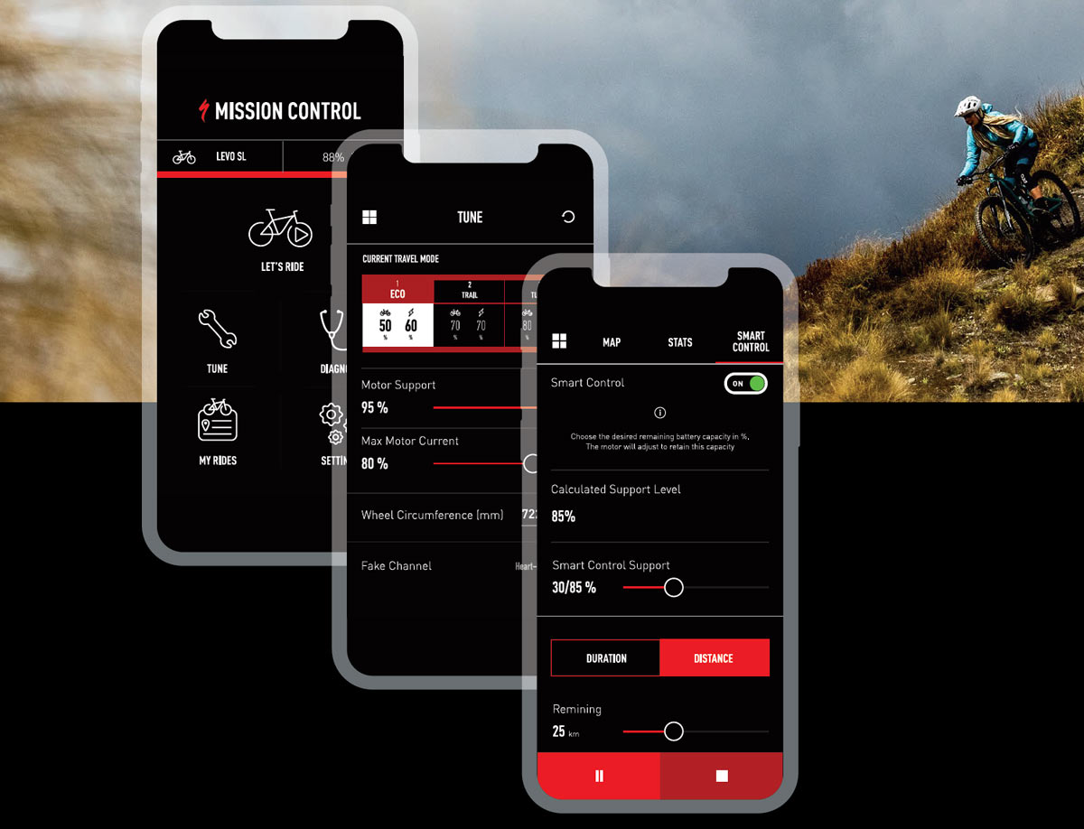 how do I use the specialized mission control app to control my ebike